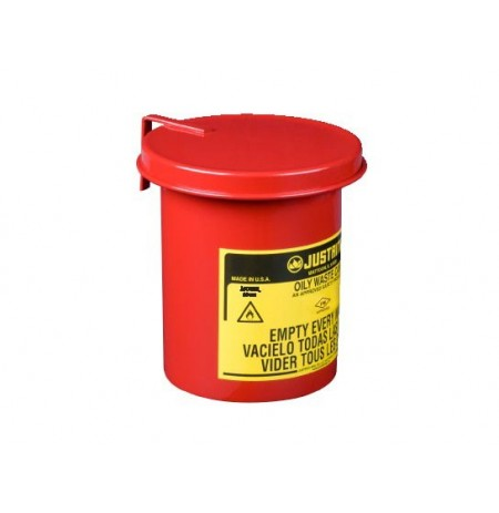 Oily Waste Mini Benchtop Can for long cotton-tip applicators, 0.45 gallon (1.7L), SoundGard™ cover