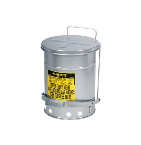 Oily Waste Can, 6 gallon (20L), foot-operated self-closing SoundGard™ cover
