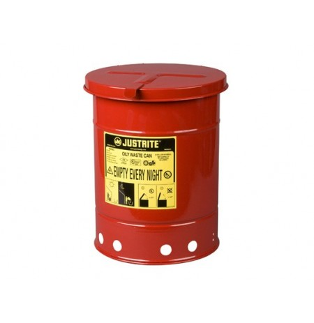 Oily Waste Can, 6 gallon (20L), hand-operated cover