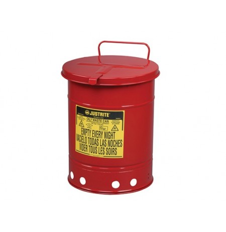 Oily Waste Can, 10 gallon (34L), hand-operated cover