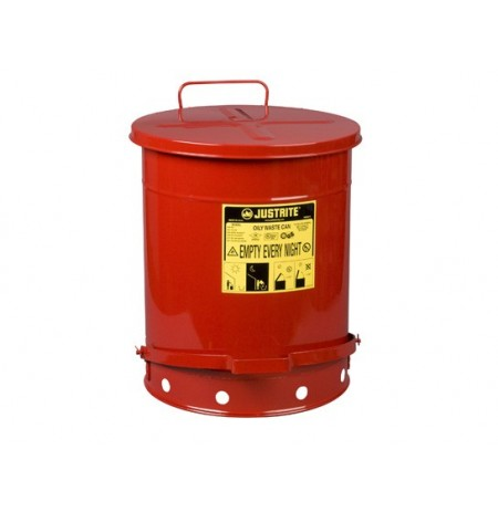 Oily Waste Can, 14 gallon (52L), foot-operated self-closing cover