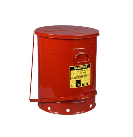 Oily Waste Can, 21 gallon (80L), foot-operated self-closing SoundGard™ cover