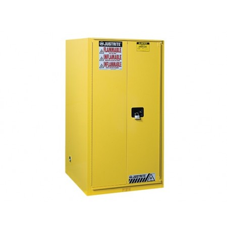 Sure-Grip® EX Flammable Safety Cabinet, Cap. 60 gallons, 2 shelves, 1 bi-fold s/c door