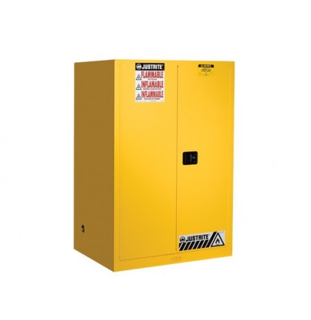 Sure-Grip® EX Flammable Safety Cabinet, Cap. 90 gallons, 2 shelves, 2 manual-close doors