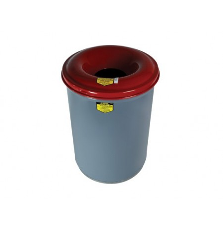 Heavy-Duty-Cease-Fire® Waste Receptacle, Safety Drum Can with Red Steel Head, 12 gallon (45L)