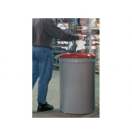 Heavy Duty Cease-Fire® Waste Receptacle, Safety Drum Can with Red Steel Head, 15 gallon (57L)