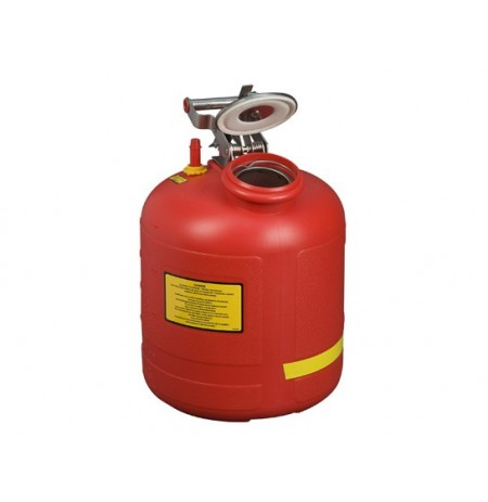 Safety Can for Liquid Disposal, S/S hardware, 5 gallon (19L), flame arrester, polyethylene, with built-in fill gauge