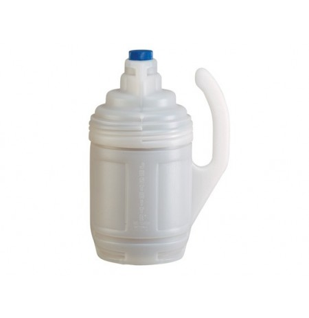 Bottle Jacket for 1-gallon glass chemical bottles in laboratory use, translucent polyethylene