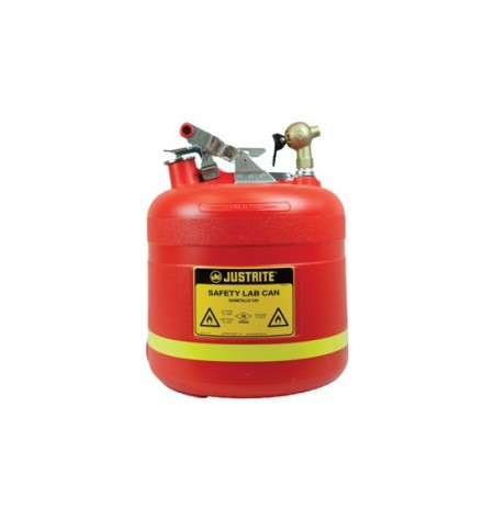 Dispensing Safety Can, S/S hardware, 5 gal., top self-close Brass faucet, flame arrester, poly