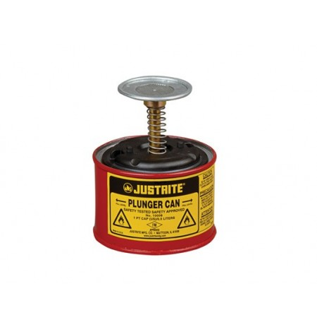 Plunger Dispensing Can, 1 pint (0.5L), Steel