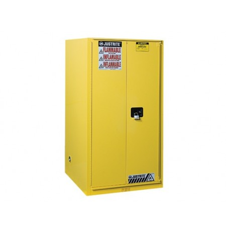 Sure-Grip® EX Flammable Safety Cabinet, Cap. 90 gallons, 2 shelves, 1 bi-fold s/c door