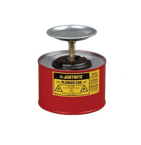 Plunger Dispensing Can, 2 quart (2L), Steel