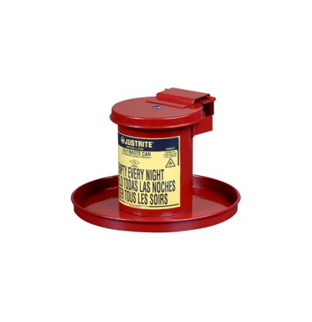 BENCHTOP SOLVENT SAFETY CAN, 0.45 GALLON (1.7L), SELF-CLOSING LID