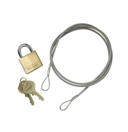 Anchoring Cable Kit with Padlock for Smokers's Cease-Fire® Cigarette Butt Receptacle