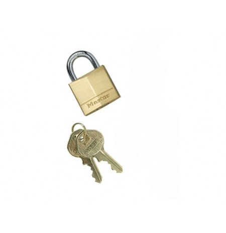 Padlock Master Lock® No. 130 for Anchoring Kit for Smoker's Cease-Fire® Cigarette Receptacle, Brass