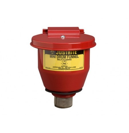 "Small Steel Drum Funnel use with 5-gal. steel pail with 2"" NPT bung, 1"" flame arrester, s/c cover."