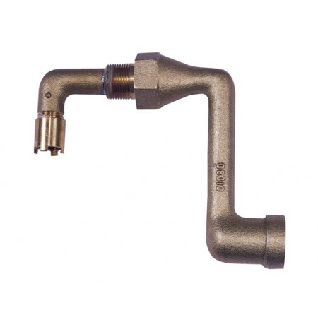 Brass Drum Siphon Adapter for draining 30 and 55-gallon drums