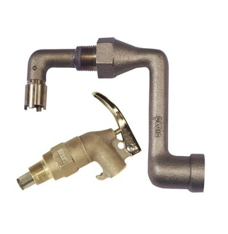 Brass Drum Siphon Adapter No. 08311 for draining 30/55-gal. drums, with brass s/c faucet