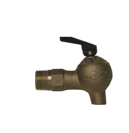 """Brass Control Flow Lab Safety Faucet, 3/4"""" NPT bung"""