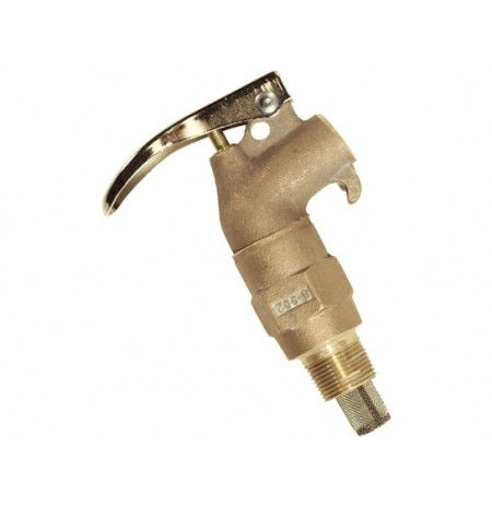 "Brass Safety Drum Faucet, internal Flame Arrester, Adjustable, 3/4"" NPT bung"