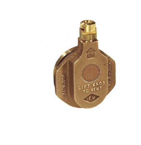 "Brass Horizontal Drum Vent for petroleum based applications, 2"" bung opening"