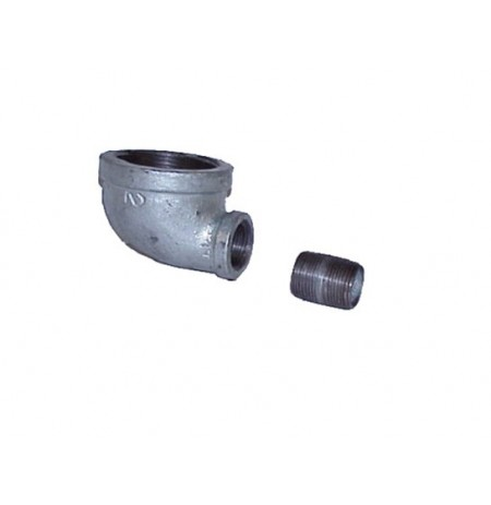 "Cast-iron EL Fitting for Mounting Drum Vent No. 08101 or 08005 in 3/4"" End Drum Opening"