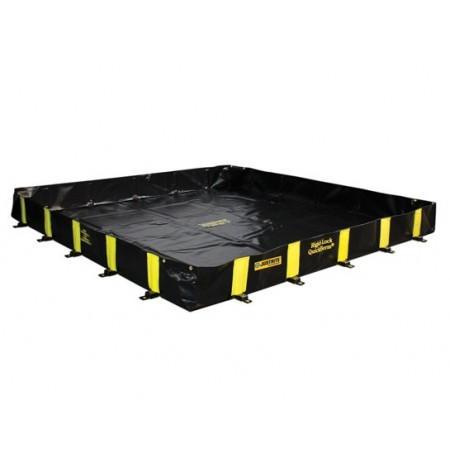 "RIGID-LOCK QUICKBERM® PLUS, DIMS. 8'W x 10'L x 12"", CAP. 595 GALS."